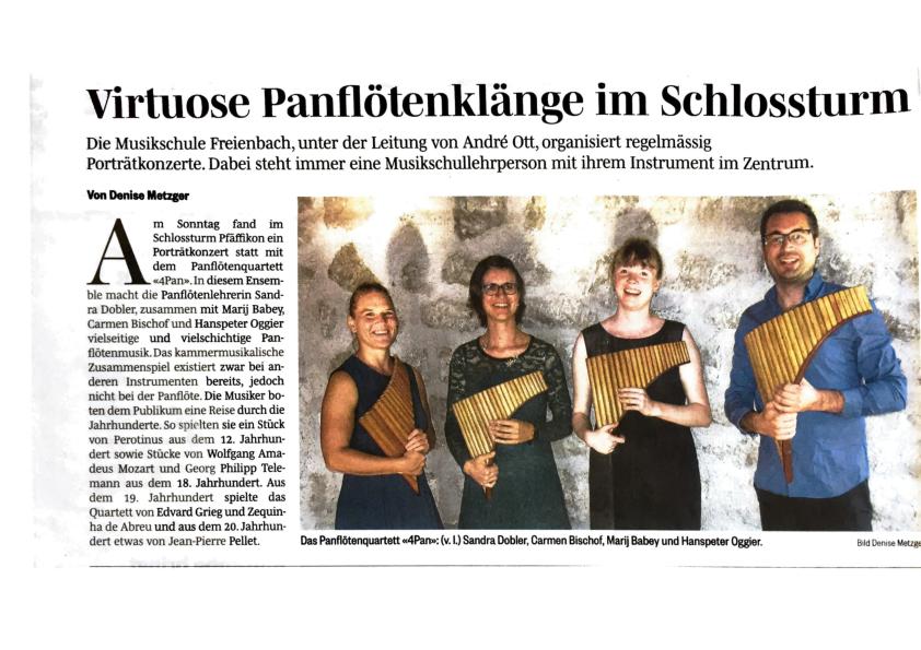 15.September 2020: Hoegner Volksblatt. Denise Metzger